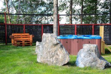 Hot Pot in den Hestasport Ferienhäuser, Island