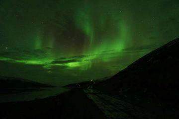 Nordlichter über dem Bauerngasthof Heydalur auf Ihrer individuellen Island Rundreise